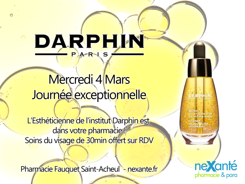 Darphin Mercredi 4 Mars