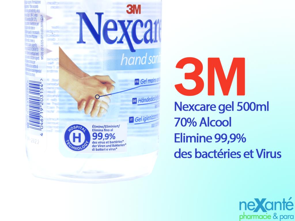 Nexcare Gel Hydroalcoolique 500ml – 3M DISPO !